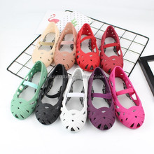summer baby sandals cheap pvc crystal kids girl baby jelly shoes