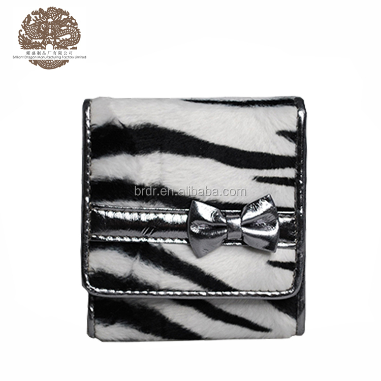 2016 New Arrival Zebra Fluff Lovely Wallet Coin Purse