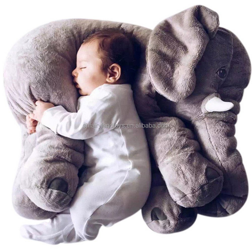 Baby Kids Elephant Pillow Toys <strong>Plush</strong> Lumbar support Cushion