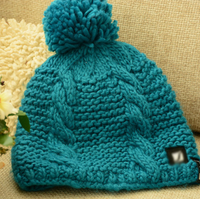 children's hand knit cable beanie