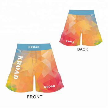 Customized wholesale blank mma shorts with pockets