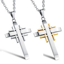 new design Cross necklace Stainless Steel symbol cross pendant necklace