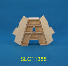 Small wooden letter box for crafts/ kids letter boxes for sale
