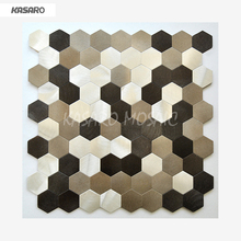 Metal Peel And Stick Tile Wall Mosaic Aluminum Composite Hexagon Tile