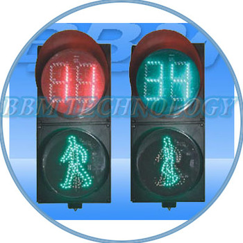 200mm led pedestrian traffic signal with countdown timer