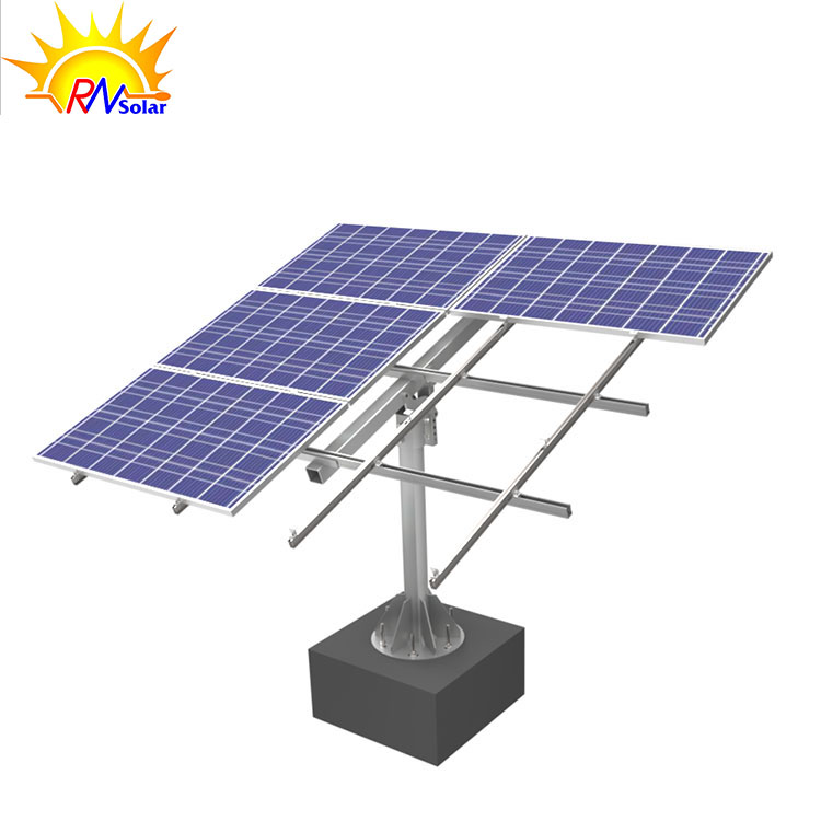 RN6  Carbon Steel Adjustable Single-column Solar Mounting Structure for Small Solar Power Plant