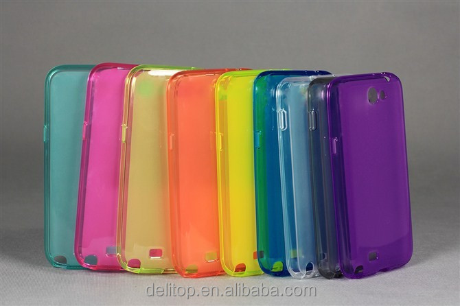 Durable Slim Transparent TPU Glossy Gel Soft Case Cover for Samsung Galaxy Note 2