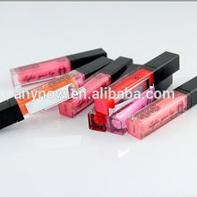 Customized Charming 6 Colors Led Women Lip Gloss With Mirror