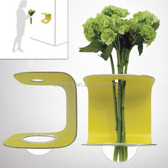 customized crystal acrylic flower vase stand novelty plant stand