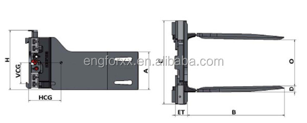 Forklift Clamp/Bale Clamp for All Forklift Attachment