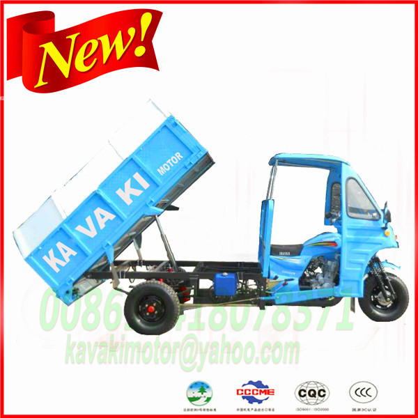 China KAVAKI factory hot sale Sanitation tricycle/Garbage three wheel motorcycle