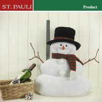18inch lovely plush White Christmas Snowman home decoration