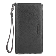 Universal Saffiano leather Clutch bag genuine leather hand mobile phone case wallet
