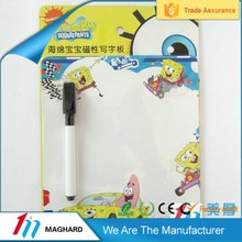 cartoon magnetic writing/drawing board sheet with pen for kids education toy