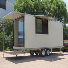 Functional mobile container house with truck