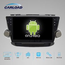 Double din Android 4.4 dual core 10.2in car dvd for toyota highlander 2012 with GPS, iPod, RDS, Wifi, 3G, mirror link functions