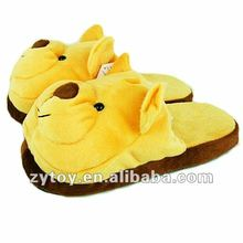 2015 Hot sale Soft Plush indoor animal slippers
