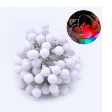 indoor holiday lighting Christmas rgb color changing LED ball string light