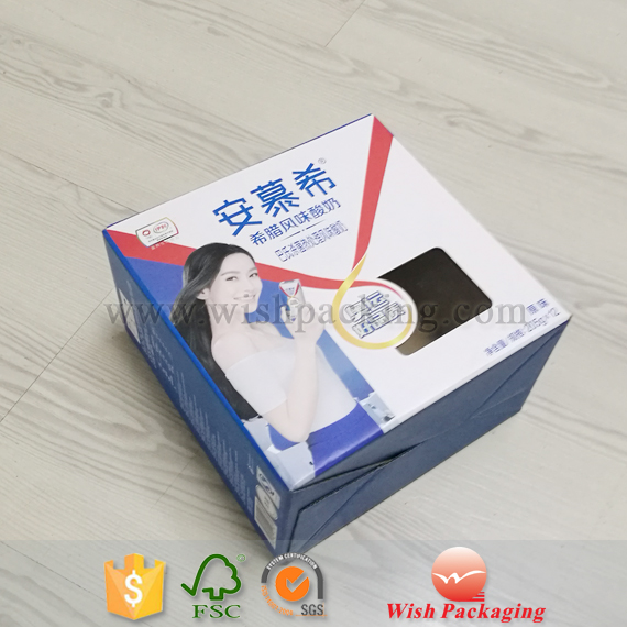 Micro single paper Flute Corrugated wall insert frame tray packaging carton drinking fruit juice milk carrying box