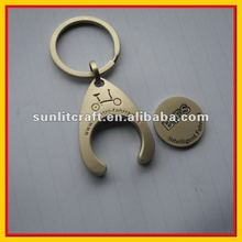 2012 Hot Sell Customized Metal Coin Holder Keychain