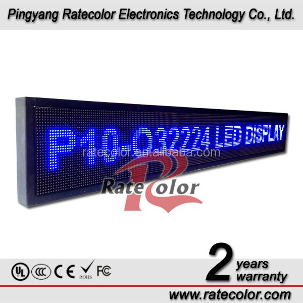 High brightness LED scrolling text message display screen / led advertising light signage(CE, RoHS, FCC ,ISO approved)