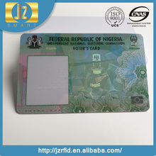 Cheap Micro Text 3D Hologram Overlay OVI Invisible UV photo id cards