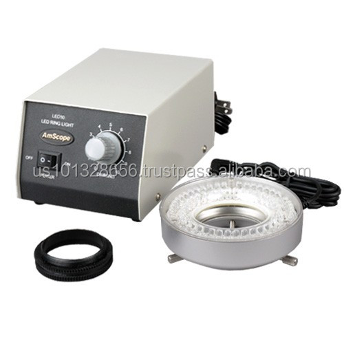 LED-80M 80-LED Microscope Ring Light w Heavy-Duty Metal Box and Adapter