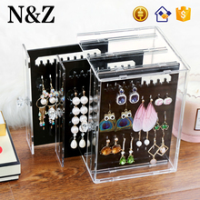 NZ C220 Popular Pattern Earring Studs Storage Box Acrylic Jewelry Earring Display Stand