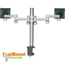 Space Generator Dual LCD Monitor Arm (Desk Clamp / Grommet Mount)