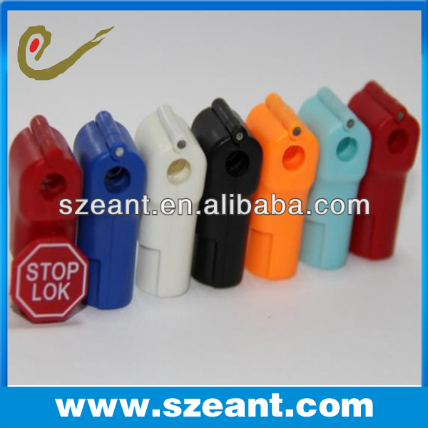 Metal display hook slatwall lock 6MM stop lock with logo customize eas guard system