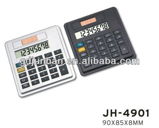 JH4901 promotional leather 8 digital dual power organizer calculator