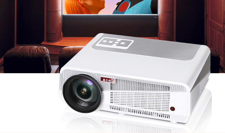 HTP LED - 86 - d home projector office intelligent hd 3 d projector dvd player