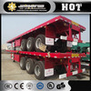 3 axles Dongfeng box truck trailer container trailer dimensions and truck prices