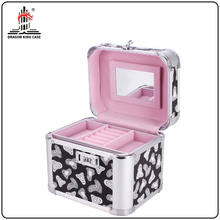 aluminium frame high quality makeup jewelry organizer box
