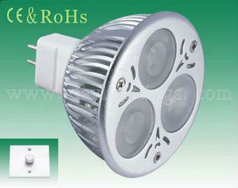 Cree XPE/Epistar chip 6w MR16 LED light dimmable