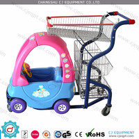 Baby shopping cart /child size shopping cart /kids shopping trolley with toy car