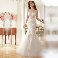 New Cheap short sleeeve fishtail sexy backless lacealibaba maxi wedding dress 2016