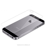 0.3mm 2.5D 9H Round Edge Back Rear Premium Real Tempered Glass Protective Film Screen Protector for Apple iPhone 5 5S