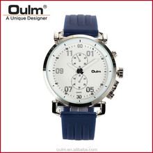 oulm quartz wrist watch, silicone belt wrist watches, wholesale watch cheap