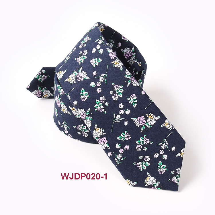 High Quality Custom Floral Tie Private Label Cotton Ties Men