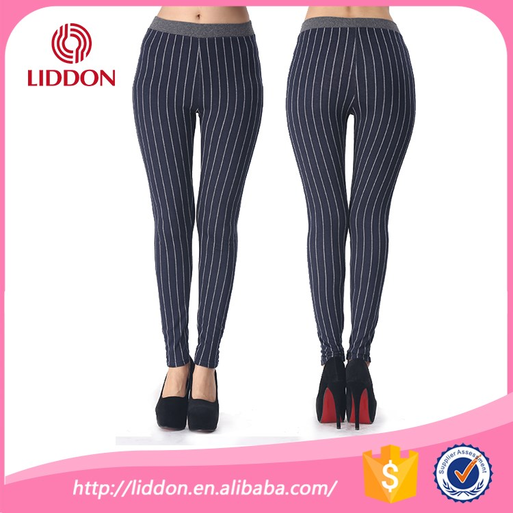 Hosiery manufacturers desi pants fashion women sport leggins striped colored butt lift cheeky leggings