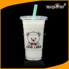 Hot selling good quality ps material food grade round disposable plastic drinking cup