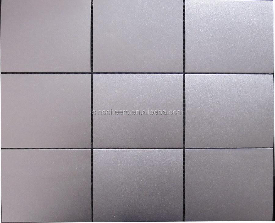 silber edelstahl mosaik fliesen k che backsplash fliesen. Black Bedroom Furniture Sets. Home Design Ideas