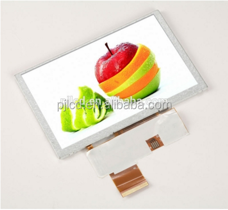 5 inch TFT 480x272 lcd display or 5 inch LCD panel with 24bit RGB interface ( PJT500H10H31-200P40N-B )