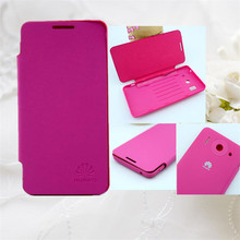 Factory Price !!! Leather Flip Battery Back Case Cover For Huawei G510