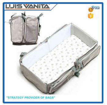 High Quality Grey 600D Polyester Folding Travel Bed