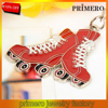 PRIMERO Wholesale Cute Ice skating shoe metal keychain Ice hockey custom zinc alloy soft enamel sport shoe key chains