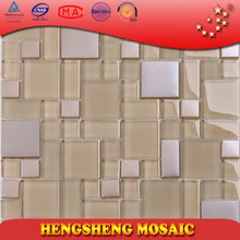 classic metal glass mosaic tile for bathroom wall decoration