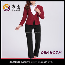 new arrival wine color formal lady long pant suits