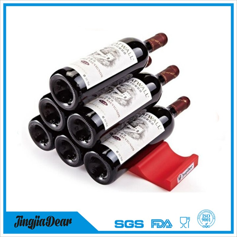 Portable silicone red wine rack, used commercial wine racks